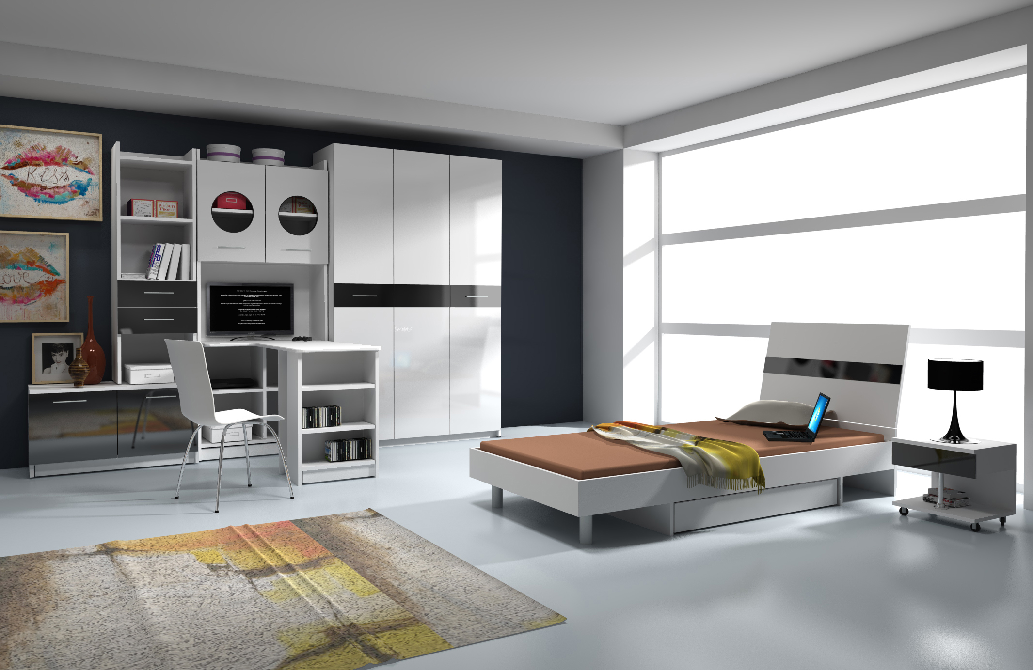 nowoczesne meble m odzie owe wroc aw dr1. Black Bedroom Furniture Sets. Home Design Ideas